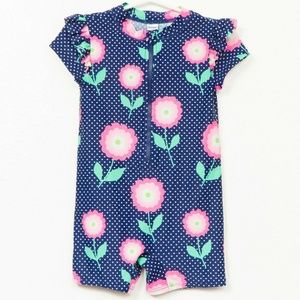 Old Navy Swim Suit Romper 3T Girls Blue Polka Dots